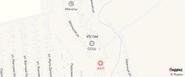 Луговая улица на карте села Истяка с номерами домов