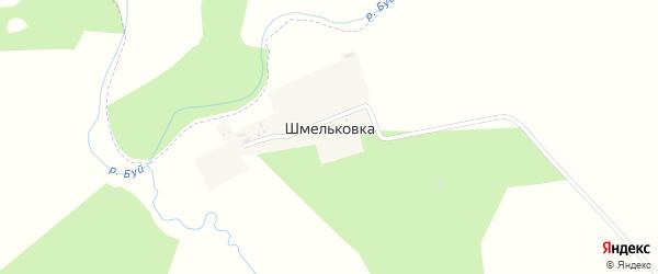 Центральная улица на карте деревни Шмельковки с номерами домов