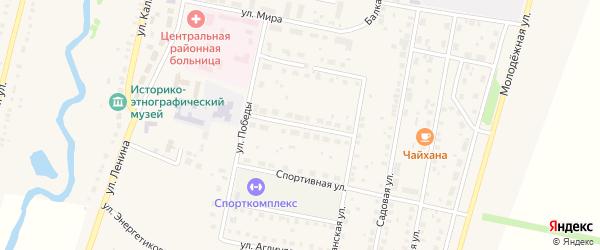 Комсомольская улица на карте села Языково с номерами домов