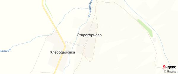 Карта деревни Старогорново в Башкортостане с улицами и номерами домов