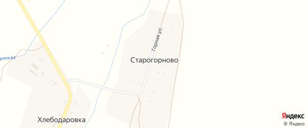 Горная улица на карте деревни Старогорново с номерами домов