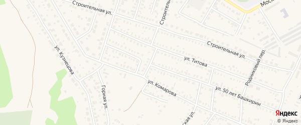 Карьерная улица на карте Давлеканово с номерами домов