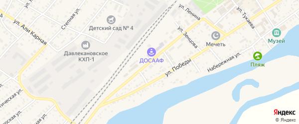 Коммунистическая улица на карте Давлеканово с номерами домов