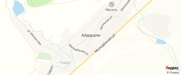 Карта села Айдарали в Башкортостане с улицами и номерами домов