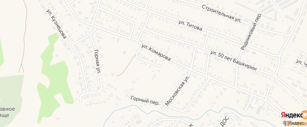 Горный переулок на карте Давлеканово с номерами домов