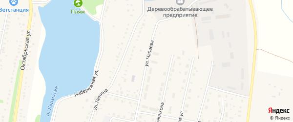 Улица Чапаева на карте села Языково с номерами домов