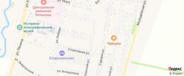 Балканская улица на карте села Языково с номерами домов