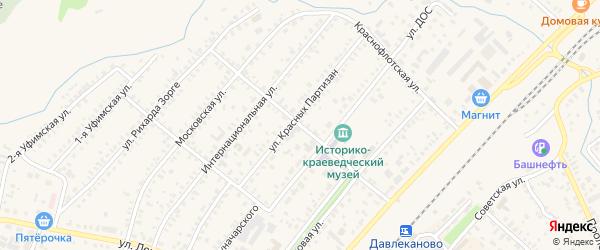 Первомайская улица на карте Давлеканово с номерами домов