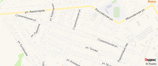 Строительная улица на карте Давлеканово с номерами домов