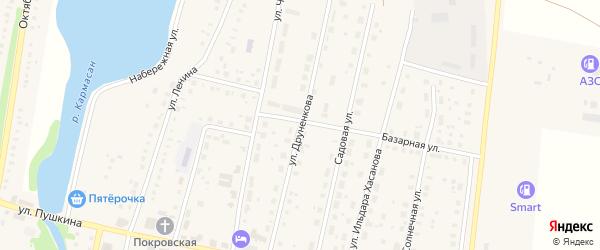 Улица Друненкова на карте села Языково с номерами домов