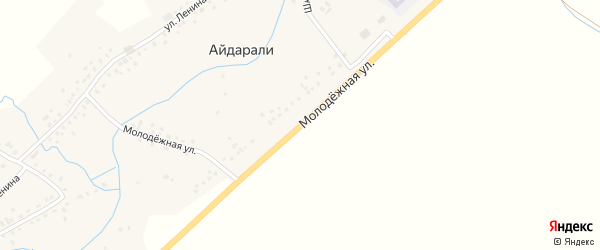 Молодежная улица на карте села Айдарали с номерами домов