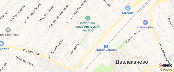 Садовая улица на карте Давлеканово с номерами домов