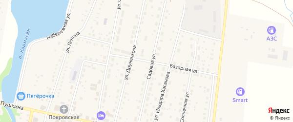 Базарная улица на карте села Языково с номерами домов