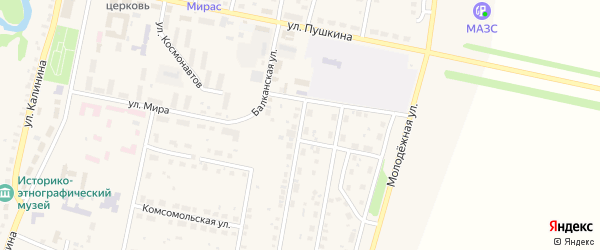 Садовая улица на карте села Языково с номерами домов