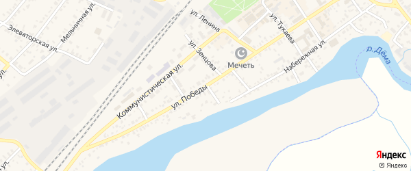 Улица Победы на карте Давлеканово с номерами домов
