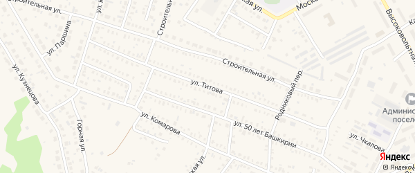 Улица Титова на карте Давлеканово с номерами домов
