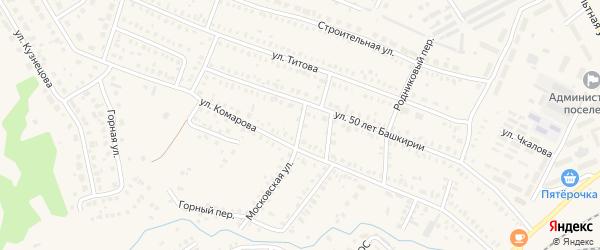 Бельский переулок на карте Давлеканово с номерами домов