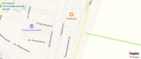 Революционная улица на карте села Языково с номерами домов