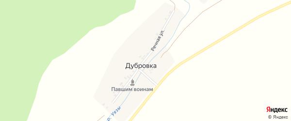 Речная улица на карте деревни Дубровки с номерами домов