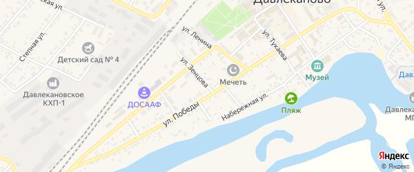 Улица Зенцова на карте Давлеканово с номерами домов