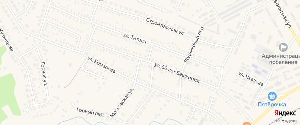 Улица 50 лет Башкирии на карте Давлеканово с номерами домов