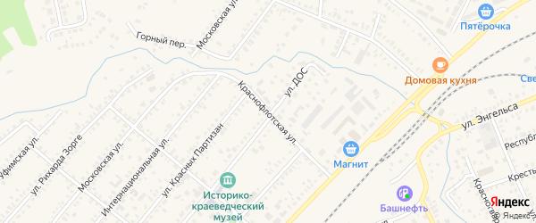 Краснофлотская улица на карте Давлеканово с номерами домов