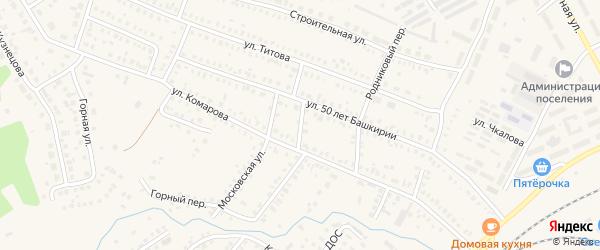 Северный переулок на карте Давлеканово с номерами домов