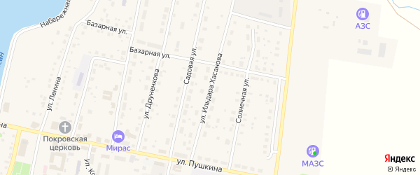 Улица Ильдара Хасанова на карте села Языково с номерами домов
