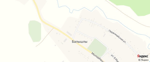 Молодежная улица на карте села Балышлы с номерами домов