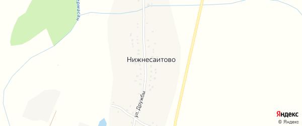 Улица Дружбы на карте деревни Нижнесаитово с номерами домов