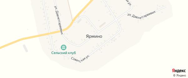 Улица Давлетгареевых на карте села Ярмино с номерами домов