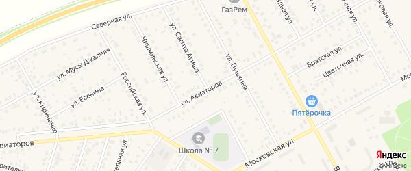 Улица Сагита Агиша на карте Давлеканово с номерами домов