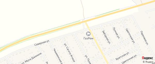 Северная улица на карте Давлеканово с номерами домов