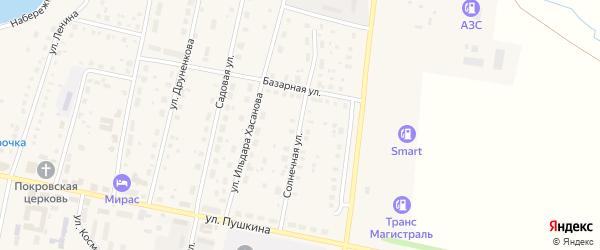 Солнечная улица на карте села Языково с номерами домов