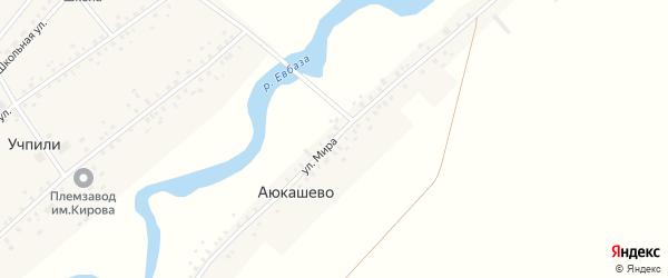 Улица Мира на карте деревни Аюкашево с номерами домов