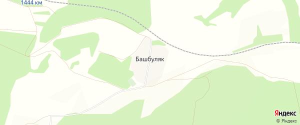 Карта деревни Башбуляка в Башкортостане с улицами и номерами домов