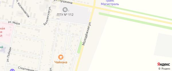 Молодежная улица на карте села Языково с номерами домов