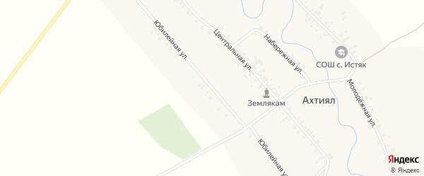 Юбилейная улица на карте деревни Ахтияла с номерами домов