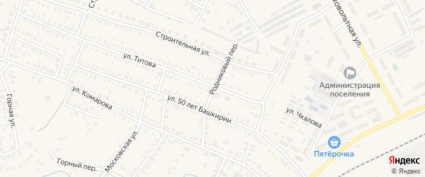 Родниковый переулок на карте Давлеканово с номерами домов