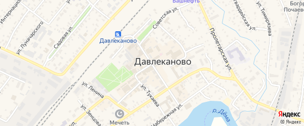 Улица Красная Площадь на карте Давлеканово с номерами домов