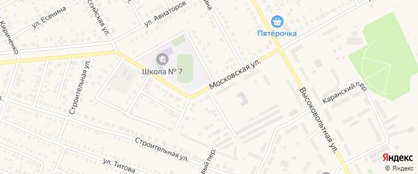 Московская улица на карте Давлеканово с номерами домов