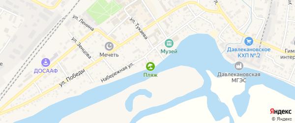 Переулок Дружбы на карте Давлеканово с номерами домов