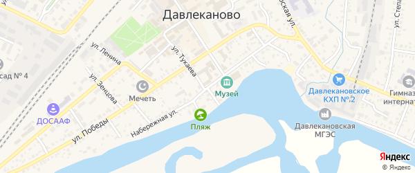 Набережная улица на карте Давлеканово с номерами домов