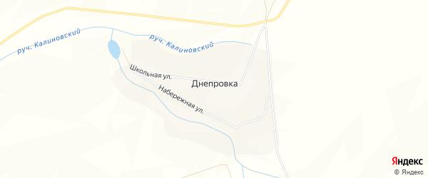 Карта деревни Днепровки в Башкортостане с улицами и номерами домов
