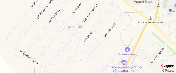 Новая улица на карте села Краснохолмского с номерами домов