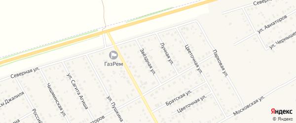 Звездная улица на карте Давлеканово с номерами домов