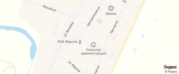 Улица А.Валиева на карте села Бакаево с номерами домов