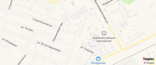 Каранский переулок на карте Давлеканово с номерами домов