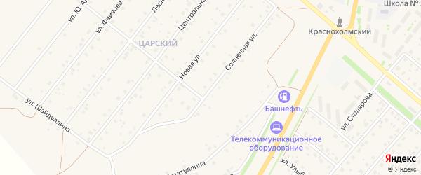 Солнечная улица на карте села Краснохолмского с номерами домов
