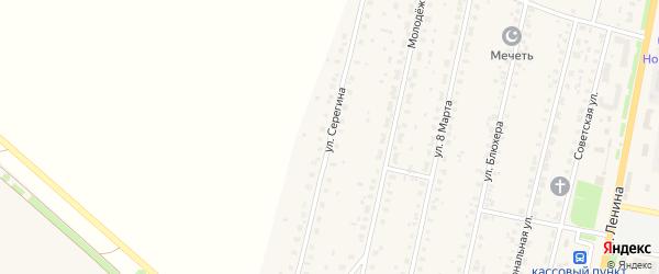 Улица Серёгина на карте села Краснохолмского с номерами домов